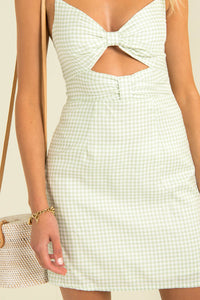 Pacey Dress / Green Check