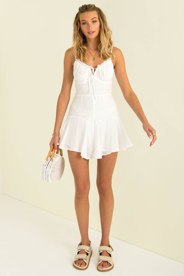 Lydia Playsuit / White