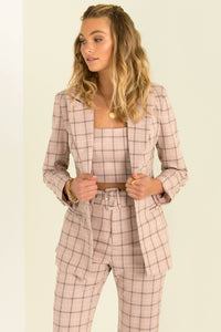 Claudia Jacket / Pink Check