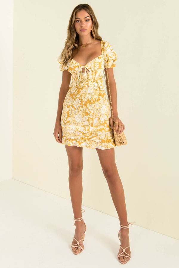 Charlize Dress / Yellow