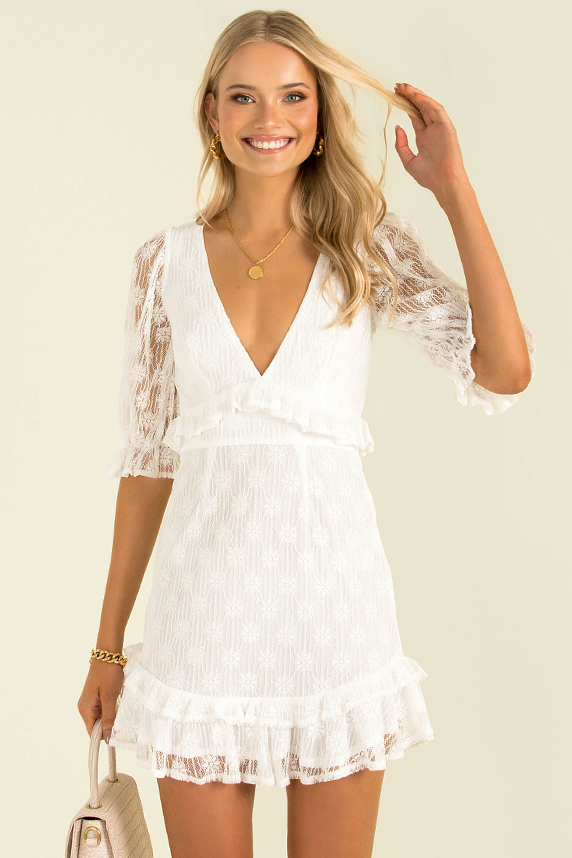 Abigail Dress / White