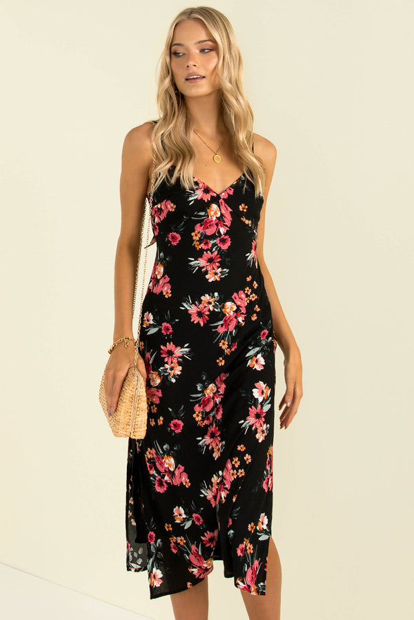 Sofia Dress / Black Floral