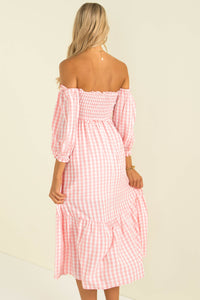 Sierra Dress / Pink Check