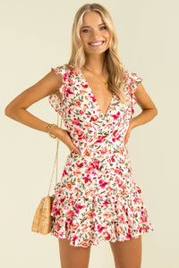 Libby Dress / Pink Floral