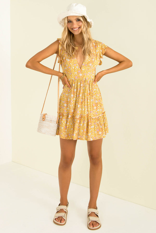 Volley Dress / Mustard