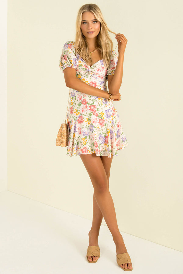 Olly Dress / White Floral