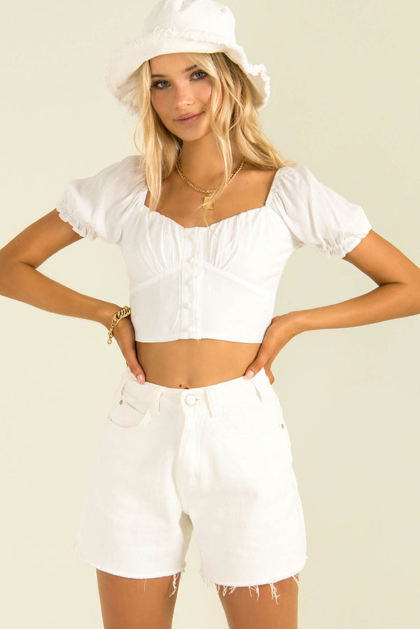 Stevie Top / White