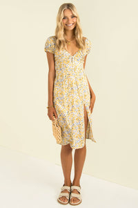 Abrielle Dress / Yellow Floral