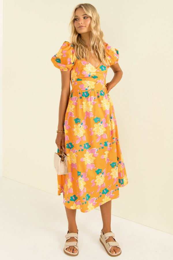 Cameron Dress / Orange