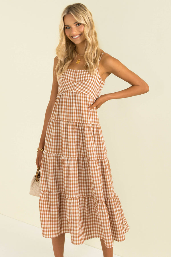 Hudson Dress / Brown Check