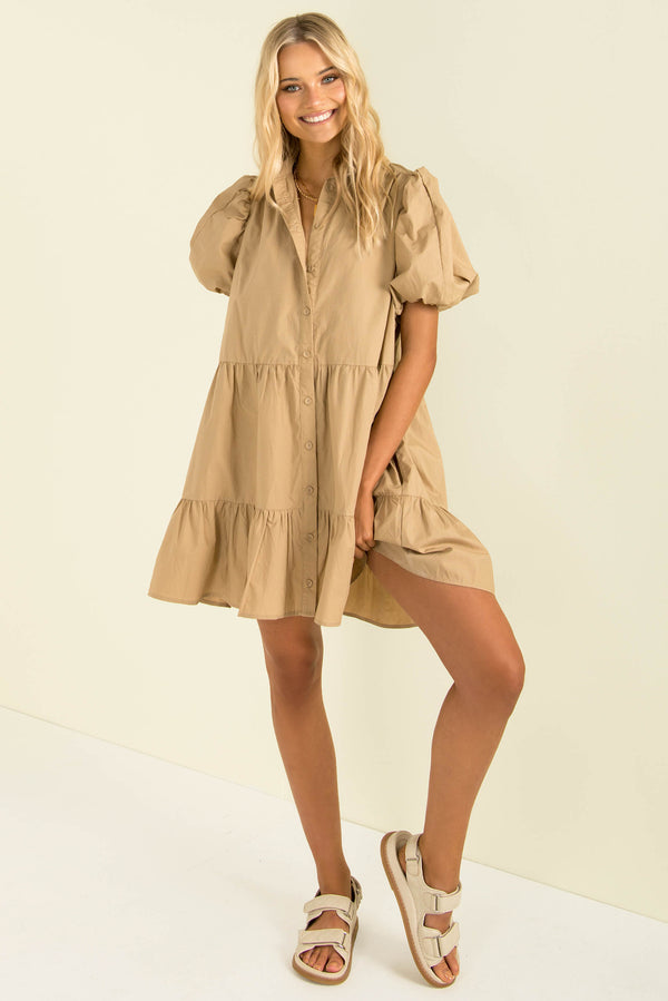 Alexa Dress / Beige