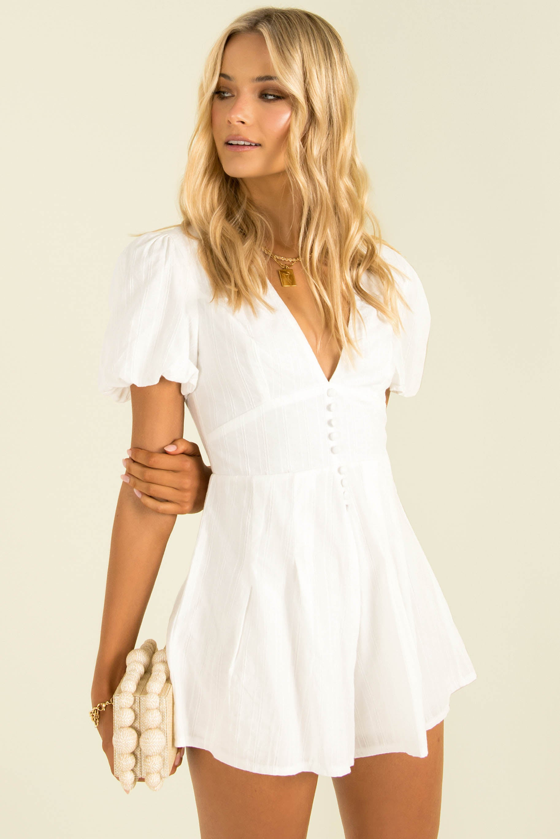 Sammy Playsuit / White