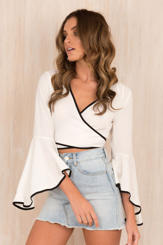 Pretty Woman Wrap Top