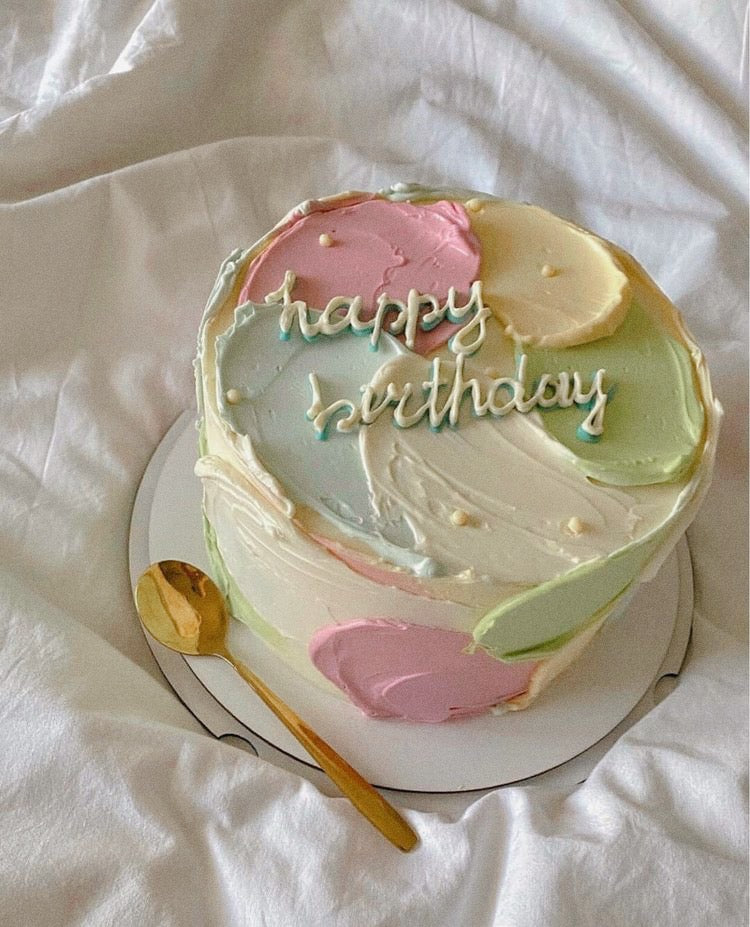 Cake with pastel icing