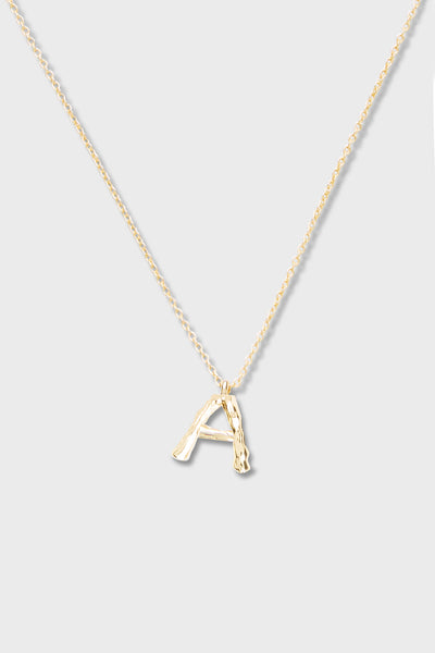 A - Initial Necklace