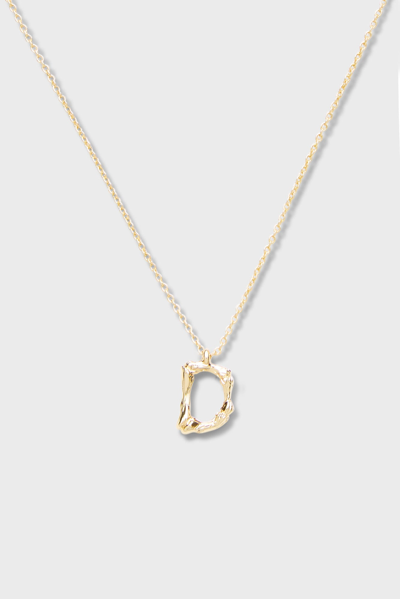 D - Initial Necklace