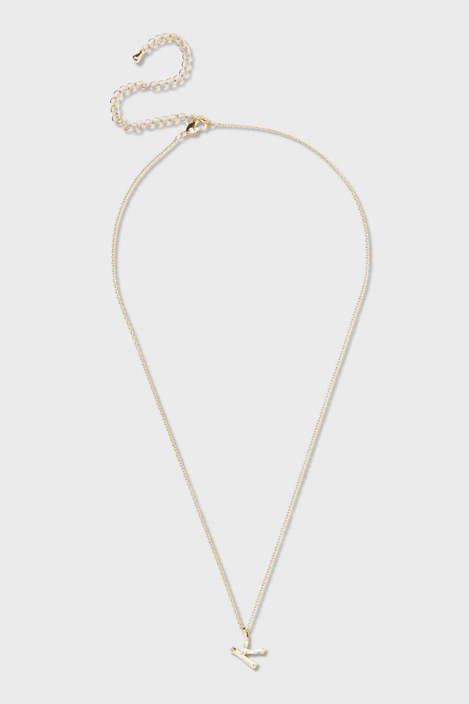 K - Initial Necklace