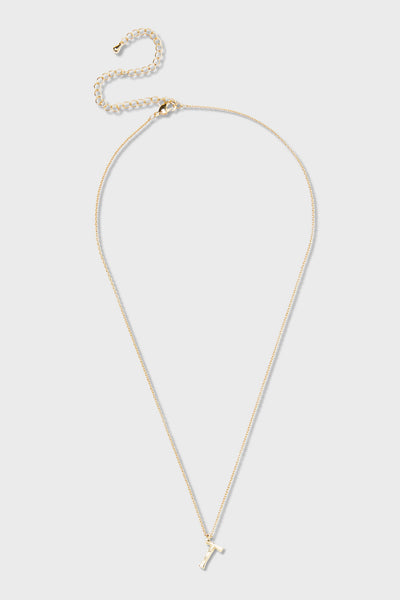 T - Initial Necklace
