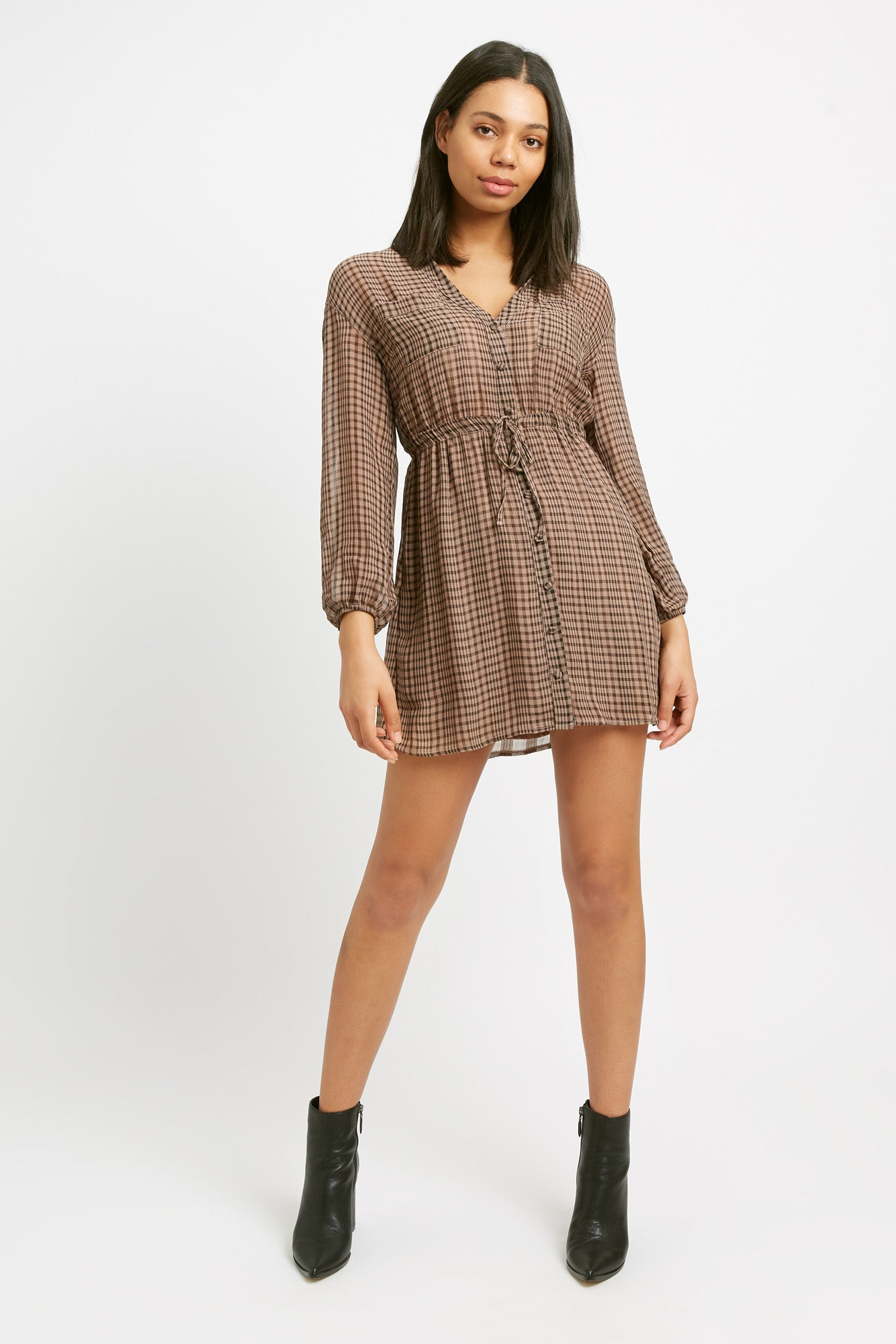 Margot Check Mini Dress