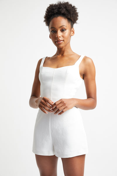 Oyster Bustier Playsuit