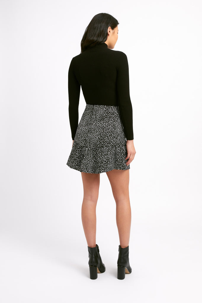 Snow Leopard Mini Skirt