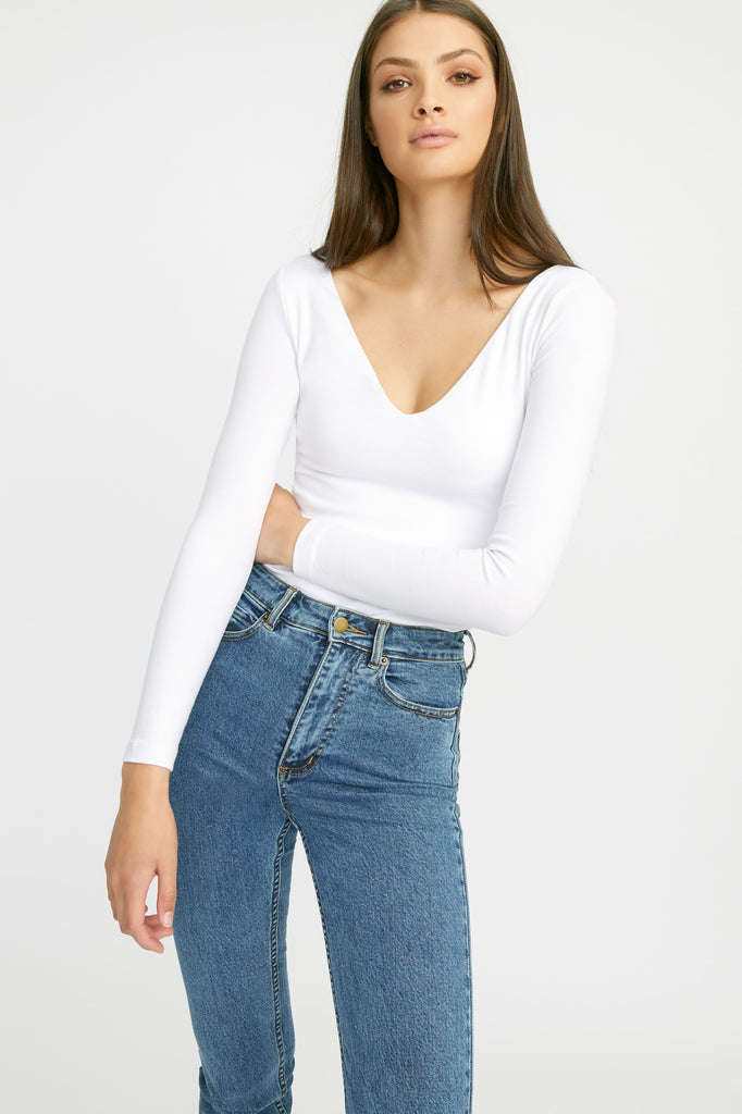 Long Sleeve Vee Top