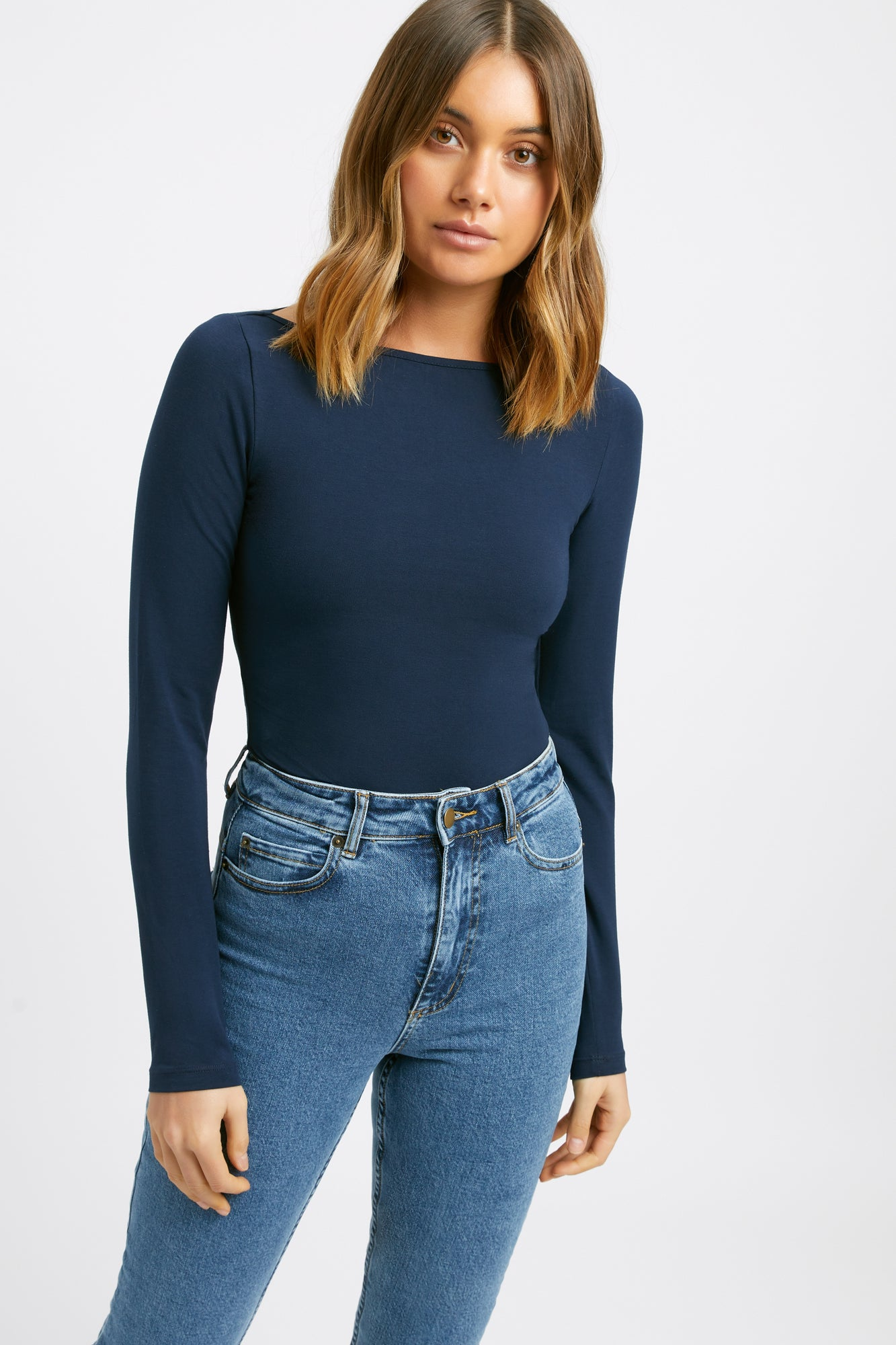 Mia Boat Long Sleeve Top