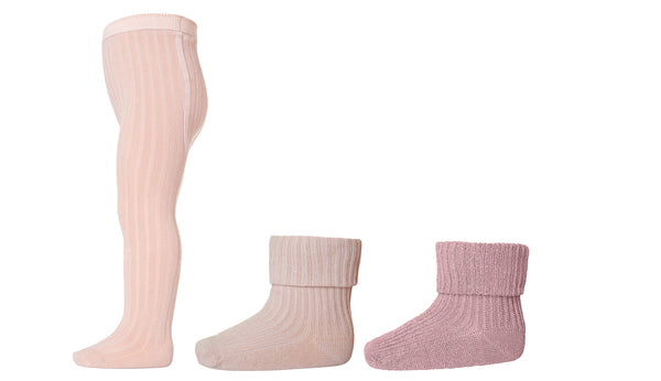 MP Denmark Tights & Socks Box Set in Rose Dust - Avery Row