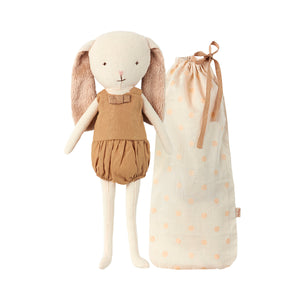 Maileg Bunny Bell in Bag - Gold
