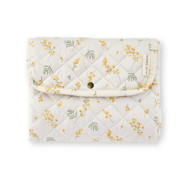 Travel Baby Changing Mat - Mimosa