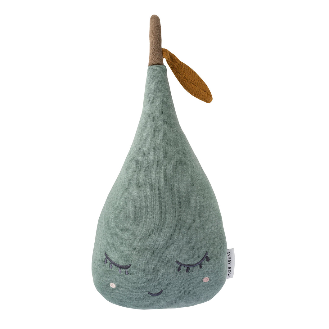 Sleepy Pear Cushion - Sage