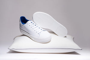 Blue Limited Edition, White - MARATOWN - super cushioned sole - most comfortable shoes