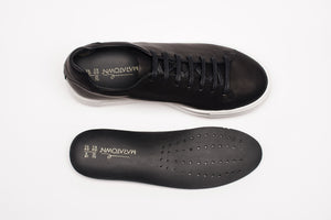 Sneakers, Bk & W, Unisex - MARATOWN - super cushioned sole - most comfortable shoes