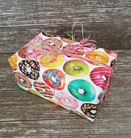 Donut Wrapping Paper-Doughnut Gift Wrap-Teen Gift Wrap-Kids Wrapping Paper
