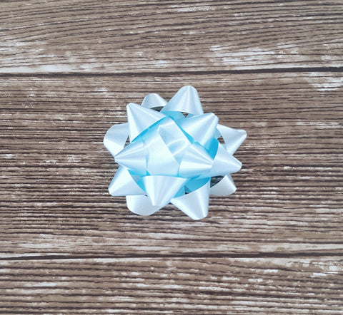 Star Bow Soft Sheen Pastel Blue - Giftwrapit