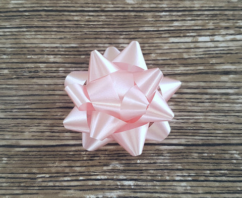 Star Bow Soft Sheen Pastel Pink