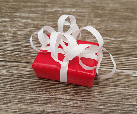 Glossy Red Gift Wrap Rolls-Traditional Valentines Wrapping