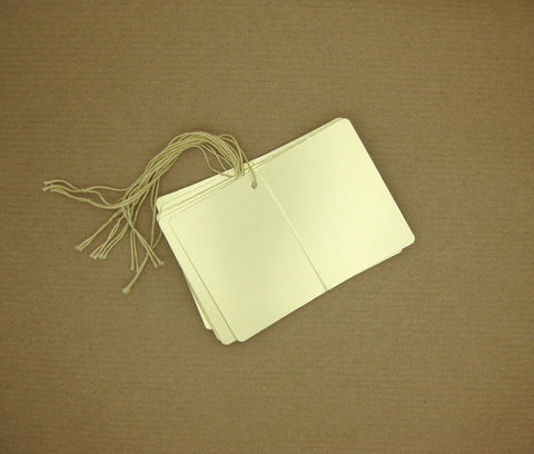 Folded & Strung Gift Tags Matte Metallic Gold