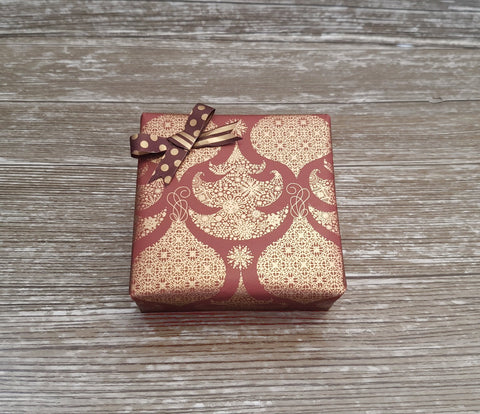 Brown Luxury Christmas Gift Wrap Roll