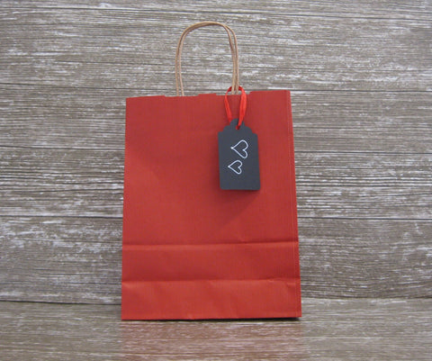 Kraft Paper Twist Handled Shopper - Small - Giftwrapit