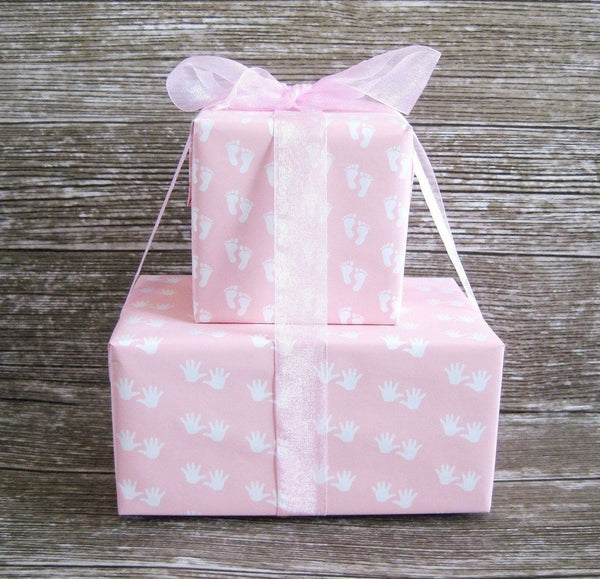 Baby Girl Pink Wrapping Paper Gender Reveal Gift Wrap