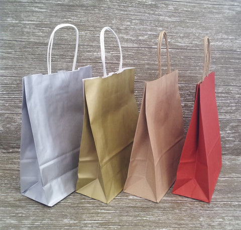 Kraft Paper Twist Handled Shopper - Medium - Giftwrapit