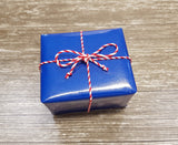Glossy Blue Stripe Gift Wrap Paper-Royal Blue Wrapping Paper