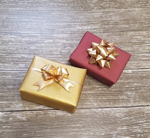 Burgundy and Gold Reversible Kraft Wrapping Paper Roll