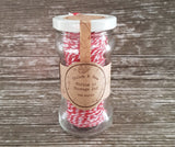 Candy cane twine-Red and white bakers string