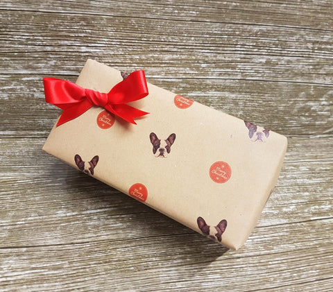 French Bulldog Wrapping Paper-Frenchie Gift Wrap Xmas