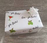Gin Christmas Wrapping Paper-Xmas Gin Gift Wrap Sheets