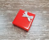 Glossy Red Stripe Gift Wrap Rolls-Nautical or Christmas Wrapping