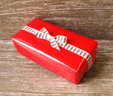 Glossy Red Gift Wrap Rolls-Traditional Christmas Wrapping