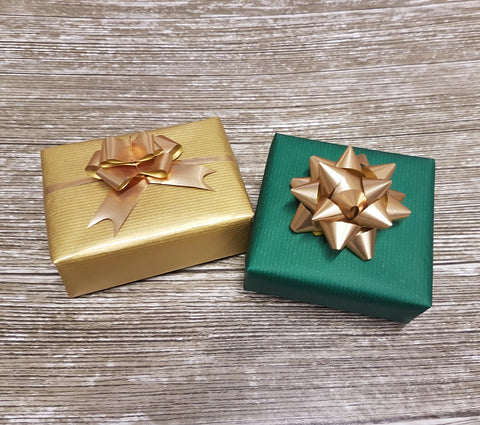 Green and Gold Reversible Xmas Kraft Wrapping Paper
